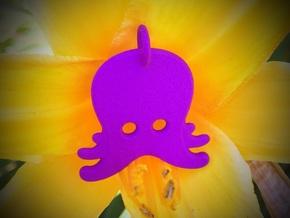 Octopus Emoji Pendant in Purple Processed Versatile Plastic