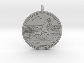 Sea Lion Animal Totem Pendant in Aluminum