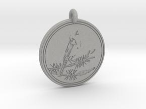 Kirtlands Warbler Animal Totem Pendant in Aluminum