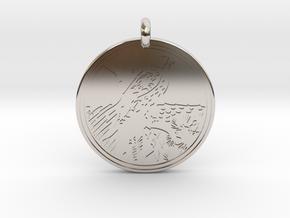 Red Tailed Hawk Animal Totem Pendant in Platinum