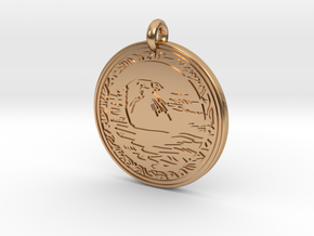 Sea Otter Animal Totem Pendant in Polished Bronze