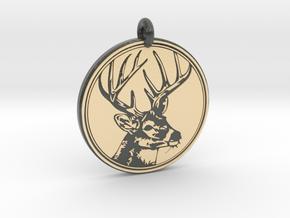 Whitetail Deer Animal Totem Pendant 2 in Glossy Full Color Sandstone