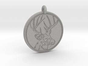 Whitetail Deer Animal Totem Pendant 2 in Aluminum