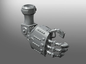 Squire-Engine Energy Gauntlet in Smooth Fine Detail Plastic: Small