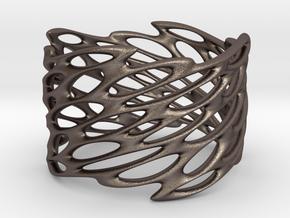 Lattice0105 Steel 9 bracelet Steel  in Polished Bronzed-Silver Steel