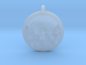 Zebra Animal Totem Pendant in Smooth Fine Detail Plastic