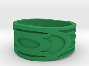 Green lantern Ring  in Green Processed Versatile Plastic: 11 / 64