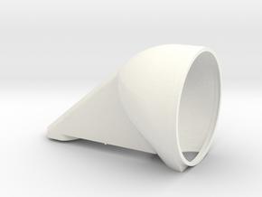 Front Bulk Head for Retro Euro Bulk Tanker in White Processed Versatile Plastic