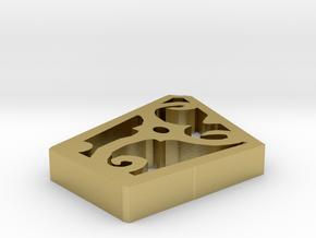 Curlingicon2 in Natural Brass