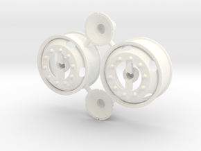 5-Hole Front Rims with Volvo hub cab in White Processed Versatile Plastic