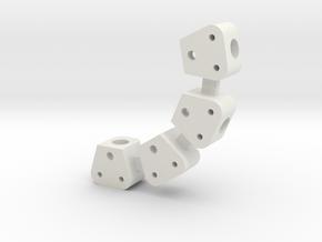 V2 Toyzuki Body Mount  for 10.2 Post V0 in White Natural Versatile Plastic