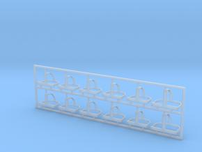 Helmhalter Typ-B 12 Stück 1:35 in Smooth Fine Detail Plastic