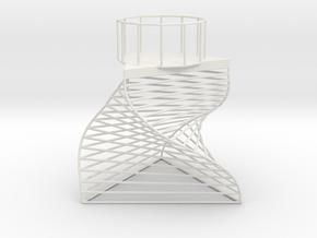 Triangle Tealight Holder in White Natural Versatile Plastic