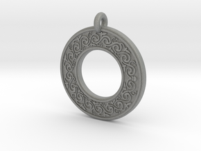 Sacred Tree Annulus Donut Pendant in Gray Professional Plastic