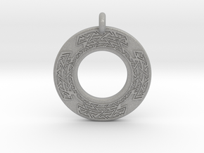 Celtic Cross Annulus Donut Pendant in Aluminum