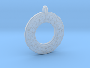 Celtic hare Rabbit Annulus Donut Pendant in Smooth Fine Detail Plastic