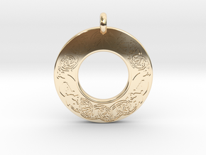 Brigantia Annulus Donut Pendant in 14k Gold Plated Brass