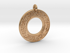 Devine Couple  Annulus Donut Pendant in Polished Bronze