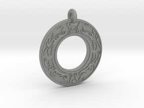 Celtic Stag Annulus Donut Pendant in Gray Professional Plastic