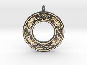 Cerridwen Celtic Goddess Annulus Donut Pendant in Glossy Full Color Sandstone