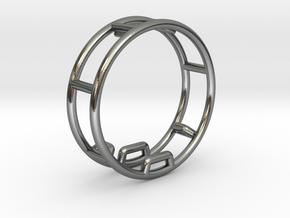 Gymnastics Wheel Pendant / Rhönrad in Polished Silver