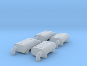 N Scale NS F Units Exhaust Mufflers in Smooth Fine Detail Plastic
