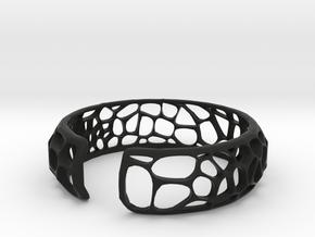 coral Cuff in Black Natural Versatile Plastic