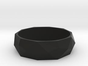 Lowpoly ring in Black Natural Versatile Plastic