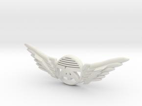Many Planes Pin in White Premium Versatile Plastic