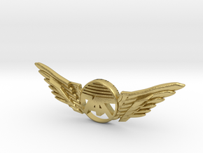 Many Planes Pin in Natural Brass