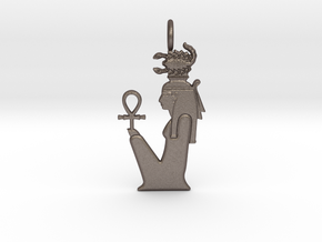 Serket / Serqet amulet in Polished Bronzed-Silver Steel