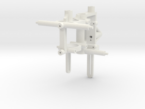 nCPX Frame for Stock 8mm brushed & Rear AR Guide M in White Natural Versatile Plastic