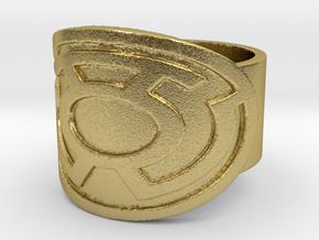 Sinestro Ring  in Natural Brass: 5 / 49