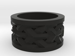 woven ring in Black Natural Versatile Plastic: 10 / 61.5