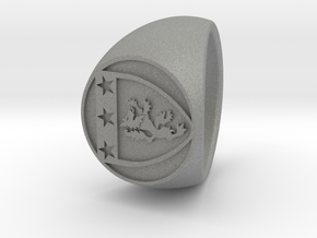 Custom Signet ring 86 in Gray Professional Plastic