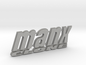 """MANX CLONE"" rear badge. in Aluminum"
