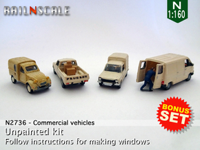 BONUS SET Commercial vehicles (N 1:160) in Smooth Fine Detail Plastic