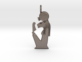 Tefnut amulet in Polished Bronzed-Silver Steel