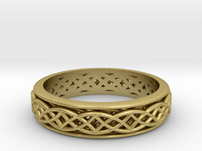 Weave band Size 8 in Natural Brass