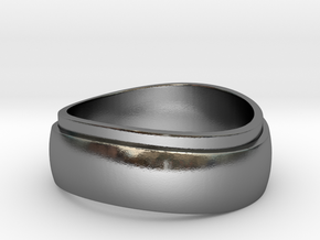 Modern ring Size 9_5 in Polished Silver