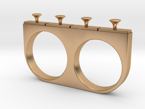 4-Drawer Ring in Polished Bronze