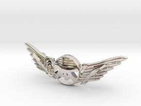Many Planes Bracelet2 in Rhodium Plated Brass