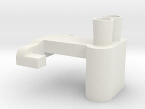 Mini Exhaust Type B in White Natural Versatile Plastic