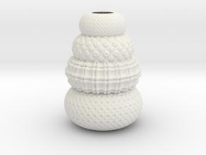 Vase 1106N in White Natural Versatile Plastic