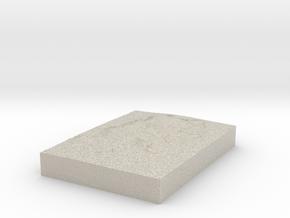 Model of Fair Isle in Natural Sandstone