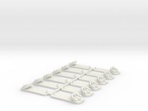 Glissières (Voie V ou DC) in White Natural Versatile Plastic