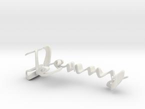 3dWordFlip: Jenny/Dani in White Natural Versatile Plastic