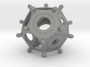 Roman Dodecahedron in Gray Professional Plastic