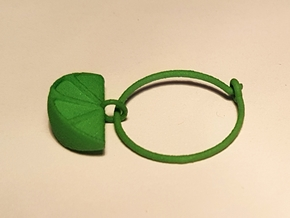 Citrus Wine Charm in Green Processed Versatile Plastic