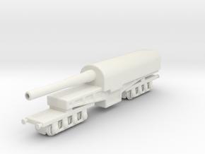 canon de 274 mm mle 1893 1/144 railway artillery  in White Natural Versatile Plastic